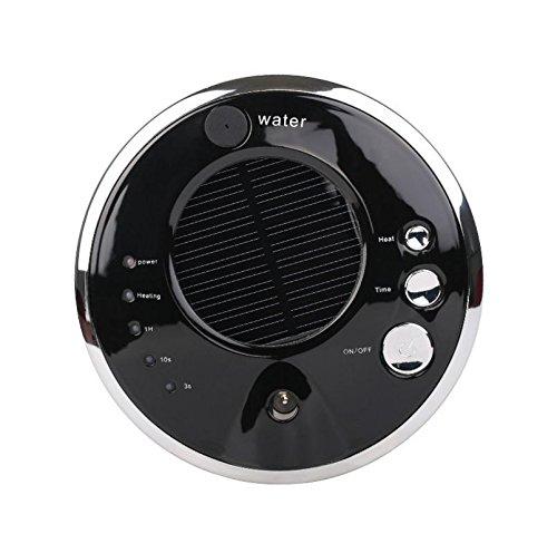 MK Voiture Air Purificateur Solaire Chargeur USB Anion Humidificateur 13x3 cm, Black