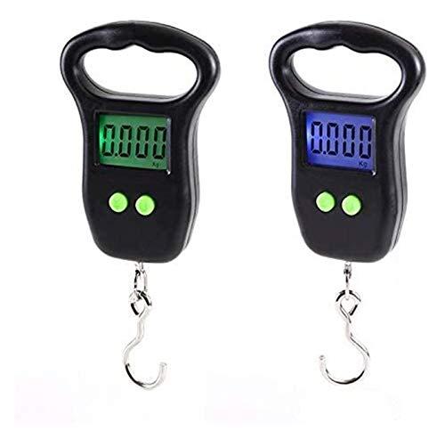 LDG Minikranwaage Handgehaltene Angelhaken-Kranwaage Elektronische Waage Gepäckwaage LED-Anzeige Waage (Color : Black, Size : 200mm/85mm/22mm)