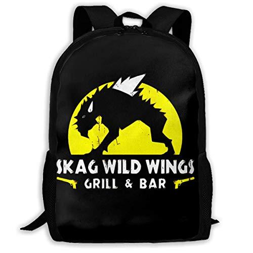 FGHJY Hochleistungs-Unisex-Rucksack für Erwachsene Skag-Wild-Wings Büchertasche Reisetasche Schultaschen Laptoptasche