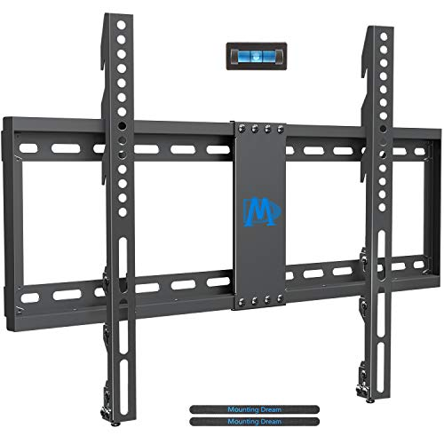 Mounting Dream TV Wall Mount Low Profile for Most 42-70 inch TVs, TV Mount with Height Adjustable TV brackets up to VESA 600 x 400mm, TV Wall Mounts Fit 16-24 inch Wood Studs Weight up to 132 lbs