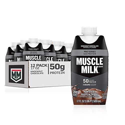 Muscle Milk Pro Series Protein Shake, Knockout Chocolate, 50g Protein, 17 Fl Oz (Pack of 12)