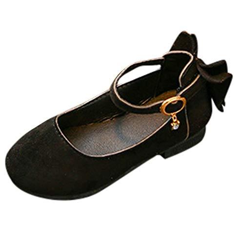 Chaussures de Princesse Manadlian Bébé Fille Chaussures Daim et Couleur Unie Chaussures Simples Filles Chaussures de Fête Sneaker