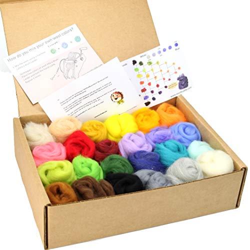 Multi-Color Wool Roving Sampler