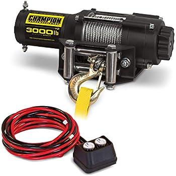 Champion Power Equipment 3000 lb. ATV/UTV Winch Kit