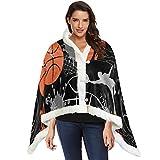 Patrón de baloncesto sin costuras deportivo Caminata con mantón para manta...