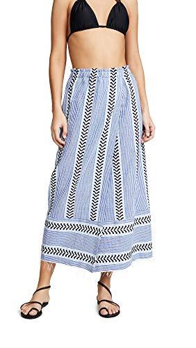 Mel Lemlem Women's Kesiti Wrap Skirt, Blue, Large