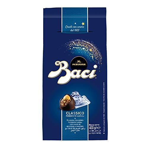 BACI PERUGINA CLASSICO Cioccolatini fondenti ripieni al gianduia e nocciola intera sacchetto 400g