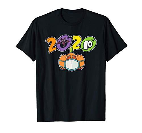 2020 Kürbis mit Maske Fledermaus Toilettenpapier I Halloween T-Shirt