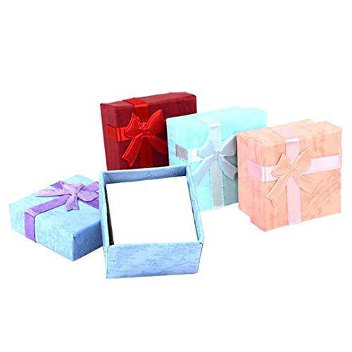 GIFTLIPHZ 4X4x3cm Jewery Organizer Box-Ring Aufbewahrungsbox kleine Geschenk-Kasten für Ringe Ohrringe Creative Box Ran Farbe Ran Color
