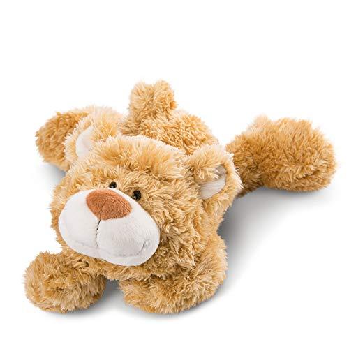 NICI 46513 Kuscheltier Bär 30 cm liegend – Plüschtier für Mädchen, Jungen & Babys – Flauschiges Stofftier zum Spielen, Sammeln & Kuscheln – Gemütliches Schmusetier, Goldbraun