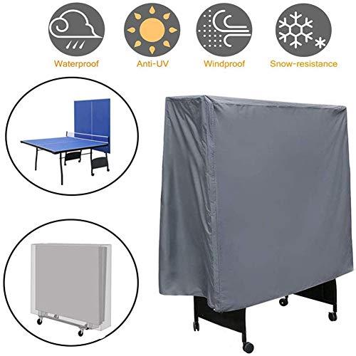 LKA Funda De Mesa De Ping Pong Impermeable 210D Oxford Doblez Funda Protectora para Mesa De Ping-Pong con Banda Apretada Anti-UV