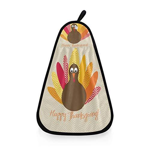 Gant de Toilette Serviette drôle Thanksgiving Turquie très Absorbant Gant de Toilette Polyvalent Ultra Doux
