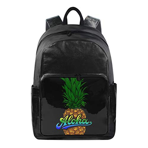ISAOA Moda impermeable mochila escolar mochila para portátil, 15.6 pulgadas arcoíris Aloha Tropical piña computadora negocios viaje mochila casual para viajes negocios universidad mujeres hombres
