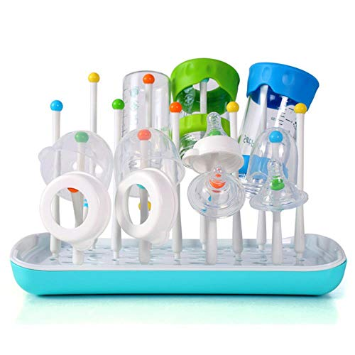 WYCYZJ Baby Bottle Holder For Feeding Drainer Bottle Portable Drying Glass Cup Rack For Bottle Drying Rack Cleaning Storage Dryer,Blue