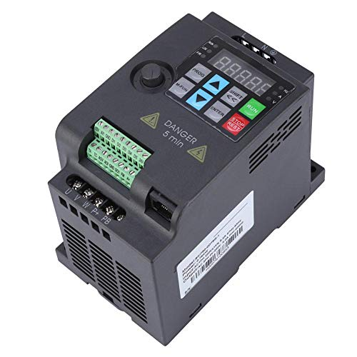 Convertidor de frecuencia 220V / 380V 6 velocidades, inversor trifásico, para equipamiento textil para motor(220VAC 0.75KW)