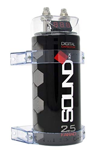SoundBox SCAP2D, 2.5 Farad Digital Capacitor for Car Audio - 2500 Watts