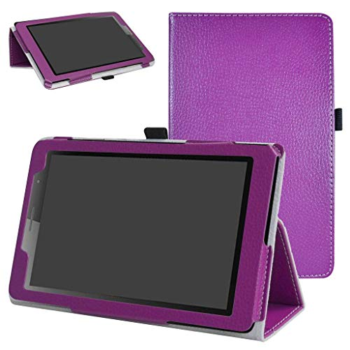 MediaPad T3 8.0 Case,Mama Mouth PU Leather Folio 2-Folding Stand Cover with Stylus Holder for Huawei MediaPad T3 8.0 Inch Tablet 2017 Release,Purple