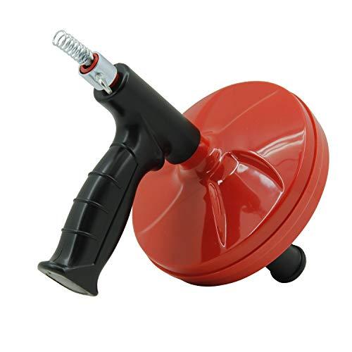 4m Rohrreinigungsgerät Rohrreinigungsspirale Rohrreinigungswerkzeug Abflussreiniger mit Ø 6mm Reinigungsspirale