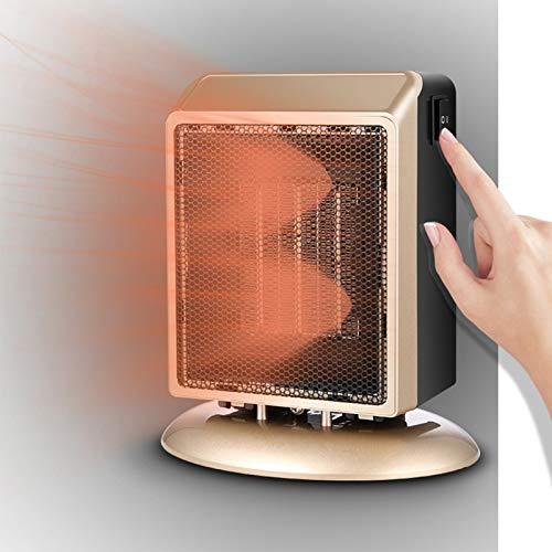 KKTECT Calentador eléctrico Mini calentador portátil Calentador interior 400W / 900W Calentador de escritorio con protección contra sobrecalentamiento y dispositivo de protección antivuelco