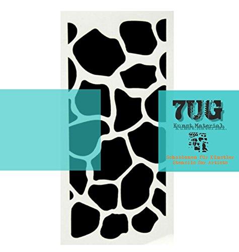 7UG Designer Schablone Giraffe/Animalprint für Mixed Media Künstler