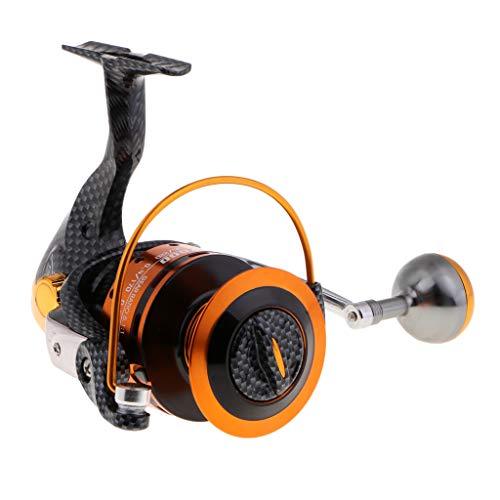 perfk Carrete Giratorio TT7000 Metal Fishing Reel 12 + 1 BB 5.1: 1 Pescar de Surf Pesca en Lago