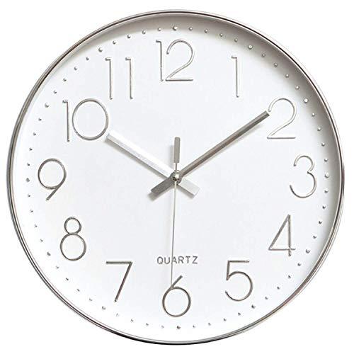 Tebery Horloge Murale de 30 cm sans tic-tac, Moderne,...