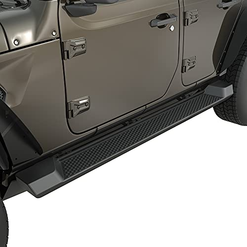 AUTOSAVER88 6 inches OE Style Running Boards, Nerf Bars, Side Steps Compatible for 2018-2021 Jeep Wrangler JL 4-Door Black (Excl JK Model)