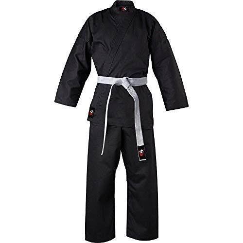 G4 Karate Suit GI Aikido Training Adult Student Karate Suits GI Aikido Club & Free Belt Black White 170cm 180 cm 190cm 200 cm (Black, 7/200)