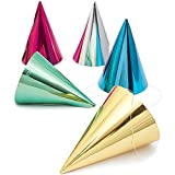 Cone Party Hats, Metallic Foil (4.8 x 6.8 In, 50-Pack)