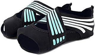 Antideslizantes Danza Fitness Pilates Calcetines Calzado Profesional de la Yoga Yoga Interior del calcetín Cinco del Dedo del pie sin Respaldo Ballet Aptitud de Las señoras de los Calcetines,A,S