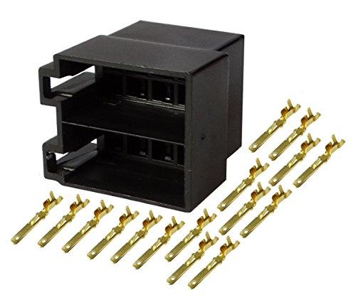 Aerzetix - Connettore ISO universale, 16 pin, altoparlanti da incasso .