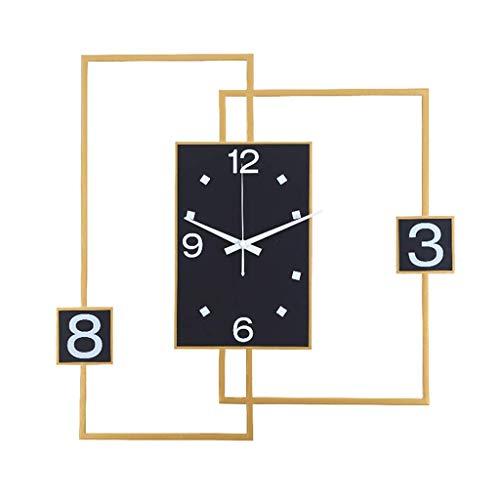 NBVCX Home Life Reloj de Pared de Moda Reloj de Pared Decorativo para Sala de Estar Dormitorio - Precisión de Cuarzo con Pilas - Reloj de Pantalla Grande Reloj