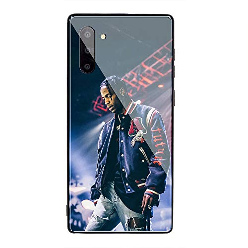 Samsung Galaxy A70 Case, Tempered Glass Back Cover Soft Silicone Bumper Compatible with Samsung Galaxy A70 AMB-2 Astroworld Travis Scott