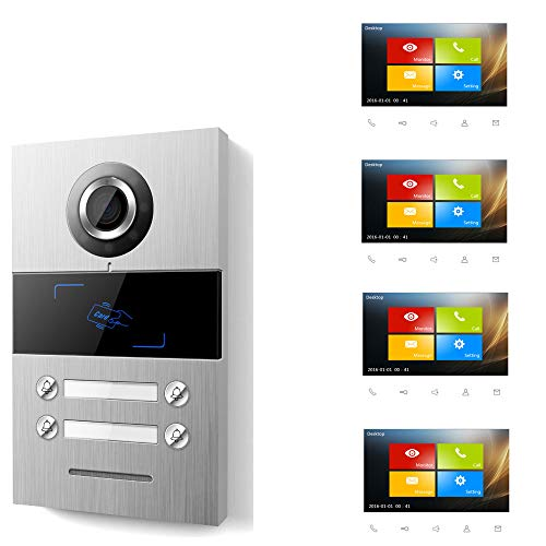 Villa 4 WE - Videoportero con pantalla táctil TFT de 17,8 cm