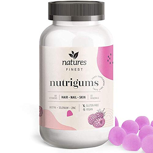 Haar Vitamine natures FINEST® Biotin Nutrigums HAIR SKIN NAIL 60 Stück -