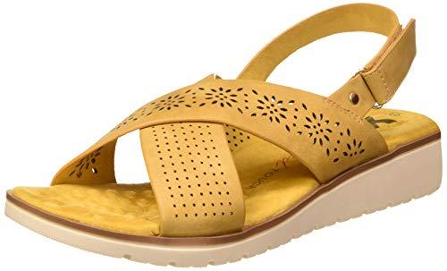 XTI Damen 49943 Peeptoe Sandalen, Gelb (Amarillo Amarillo), 37 EU