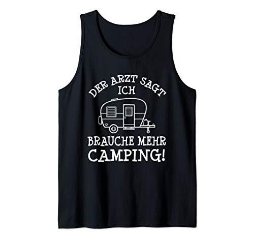 Mehr Camping Spruch Campingplatz Camper & Wohnwagen Geschenk Tank Top