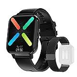 DTNO.I Smartwatch 1,78'' Orologio Fitness Impermeabile IP68 Cardiofrequenzimetro Incorporato e Monitor del Sonno Contapassi da Polso per Donna e Uomo Sportive Activity Tracker per Android IOS (Nero)