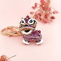 中国風の贈り物のアイデアは、装飾品レトロカーアクセサリーメタルキーリングペンダント スピードへの (Color : Purple)