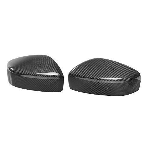 Espejo Retrovisor para Coche, Hace 09 a 15 coches Accesorios G25 G37 Q40 Q60 Par de fibra de carbono directa Añadir en el coche cubierta del espejo