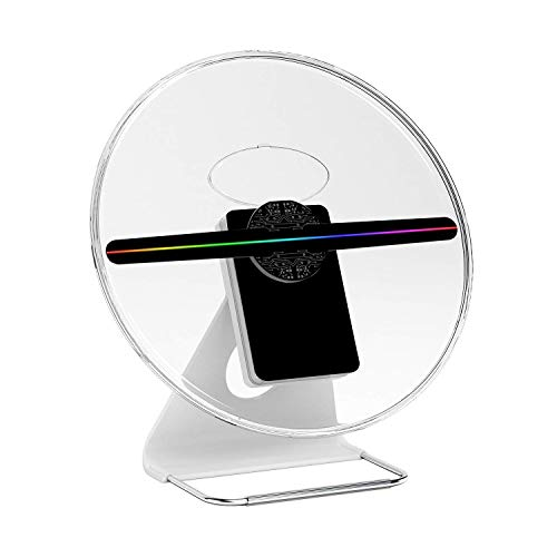 ICANZUO 3D Hologram Fan 512p HD Advertising Hologram Projector LED Fan 3D Holographic Desk Display for Home Office Shopping Mall Restaurant Bar etc