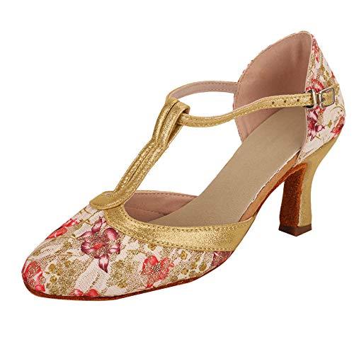 Dasongff dansschoenen, blauw, roze, dansschoenen, standaard- en latein-balschoenen, voor vrijgezellenfeest, salsa, tango, dans, schoenen, gymschoenen, pompen