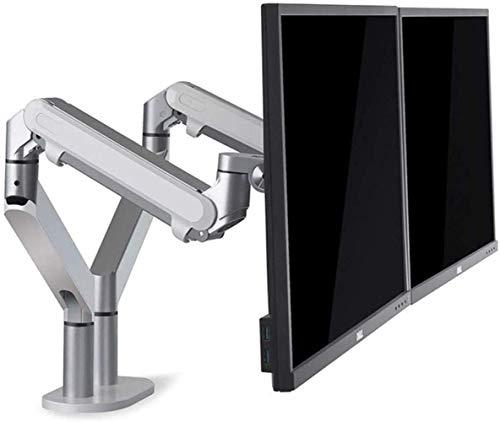 WJJ Soporte TV Pared Soporte TV Compatibilidad de Doble Monitor Soporte Extensible for la Oficina, Soporte del Monitor del Ordenador Durante 32 Pantallas de visualización, de Empalme de Doble Soporte
