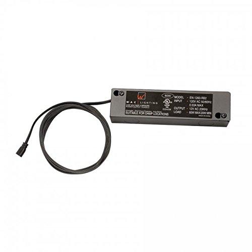 WAC Lighting EN-2460-RB2-T 120V Input 24V Output 60W Remote Enclosed Electronic Transformer for InvisiLED Tape Light, Black