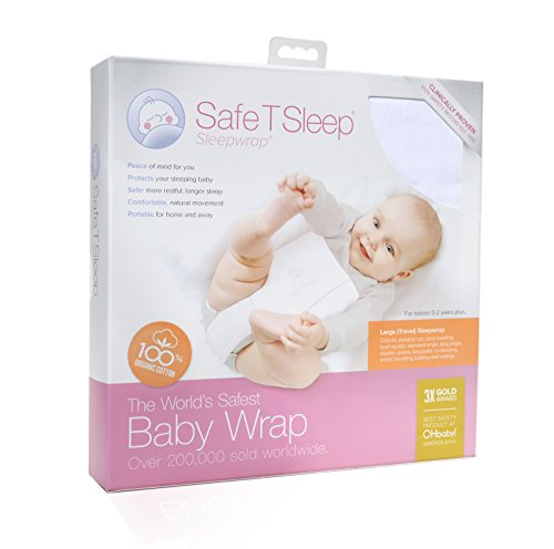 Safe T Sleep Sleepwrap Babywrap Swaddle: Large Travel Model, Fits: Cot/Crib to Standard NZ King Bed, for Babies Aged Newborn to 2 Years Plus