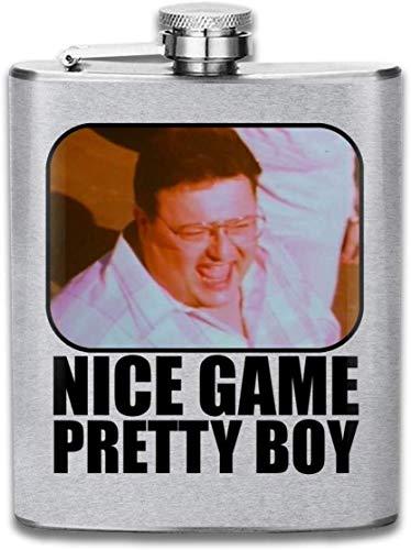 Seinfeld Nice Game Pretty Boy Print Hip Flask Pocket Bottle Flagon 7oz Portable Stainless Steel Flagon