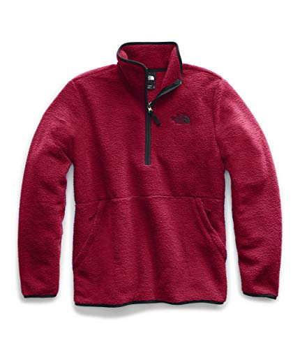 The North Face Men's Dunraven Sherpa ¼ Zip, Cardinal Red/TNF Black, 2XL