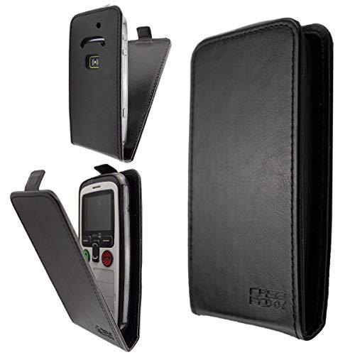 caseroxx Flip Cover für Doro Secure 580 / 580IUP, Tasche (Flip Cover in schwarz)