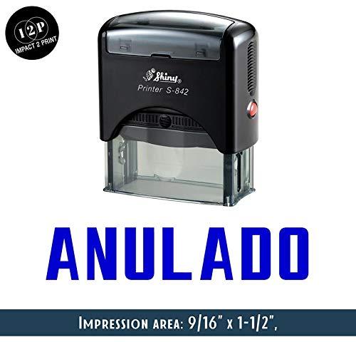 IMPACT2PRINT Brillante S-842 Autoentintado Sello De Goma ANULADO Sellos De Negocios Personalizados Papelería De Oficina