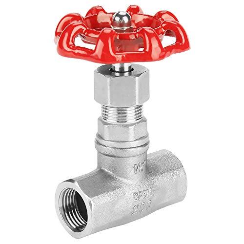 Absperrschieber DN15 Edelstahl-Absperrschieber BSPP G1/2 Drehschleuse Abwasserleitungen Ventil für Wasser Öl Gas Heimwerker